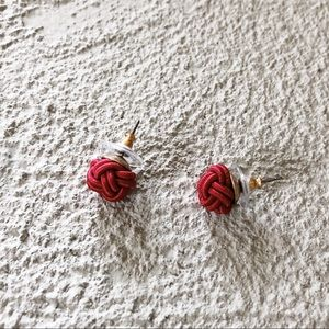 j crew red knot earrings